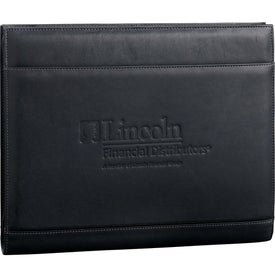 Advertising Palazzo Leather Zippered Padfolio