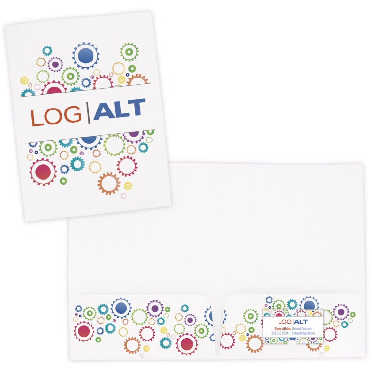 Promotional Paper Folders With Custom Logo For $0.951 Ea