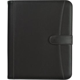 Pebble Grain Zippered Portfolio with Calculator with Your Logo
