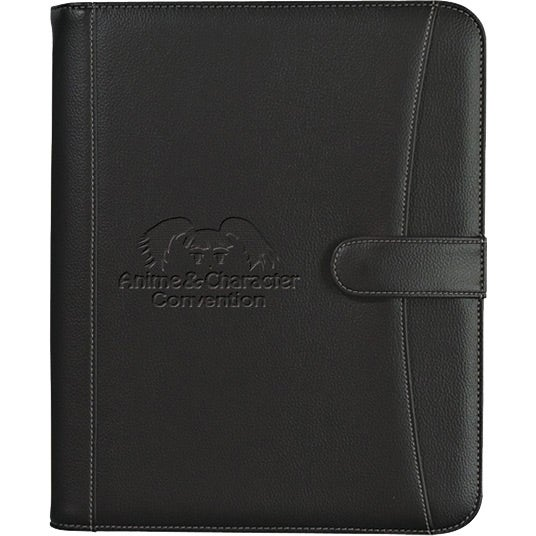 Pebble Grain Zippered Portfolio with Calculator