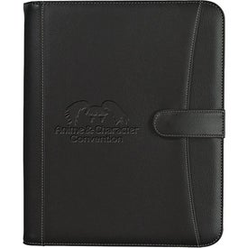 Personalized Pebble Grain Zippered Portfolio with Calculator