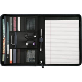 Pedova Zippered Padfolio for Your Organization
