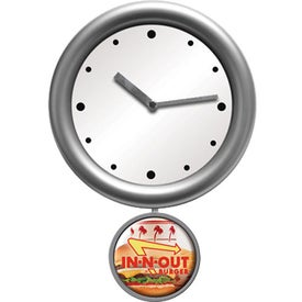 Pendulum Wall Clock Imprinted with Your Logo