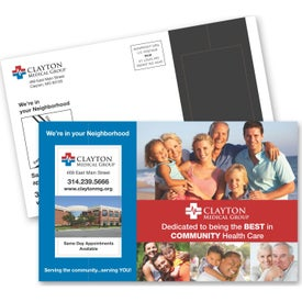 Perforated Direct Mail Magnet Postcard