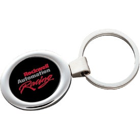 Printed PhotoVision Oval Key Ring