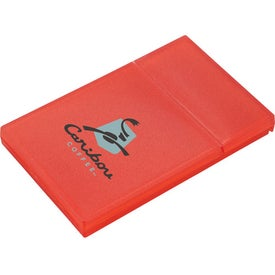 Plastic Business Card Holder with Your Slogan