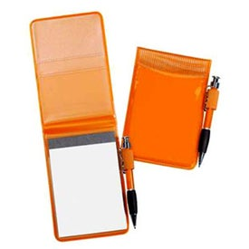 Pocket Size Clear Vinyl Jotter Pad for Your Company