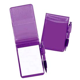 Pocket Size Clear Vinyl Jotter Pad Imprinted with Your Logo