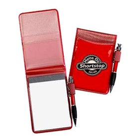 Printed Pocket Size Clear Vinyl Jotter Pad