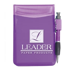 Pocket Size Clear Vinyl Jotter Pad for Your Organization