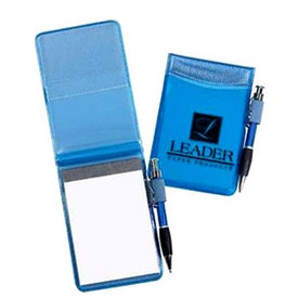 Pocket Size Clear Vinyl Jotter Pad Printed with Your Logo