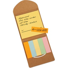 Personalized Recycled Pocket Sticky Note Caddy