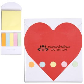 Pocket Sticky Note Memo Book (Heart)