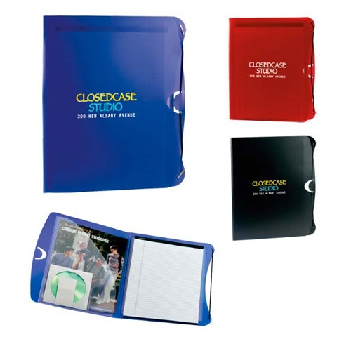 PolyPro Padfolio With Business Card And CD Holder