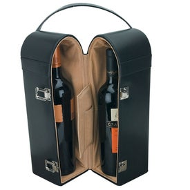 Portelli Leather Double Wine Case