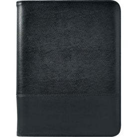 "Branded Euro 8 1/2"" X 11"" Zippered Portfolio With Calculator"