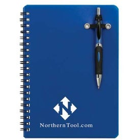 Powell Translucent Notebook w/Pen Branded with Your Logo