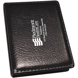 PVC Black Cover Memo Pad With 2 Pastel Colored Sticky Note