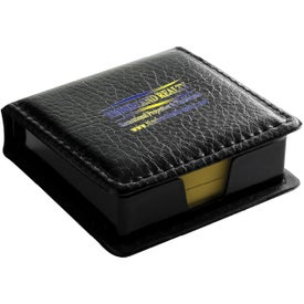 PVC Black Cover Memo Pad with Yellow Sticky Notes