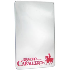 "Branded Locker Mirror 4"" x 6"" Rectangle"