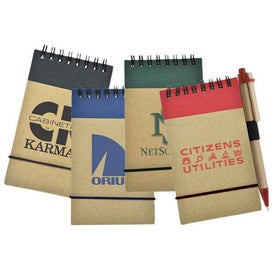 Recycled Economy Jotter with Pen