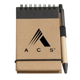 Recycled Jotter Pads with Pen (60 Sheets)