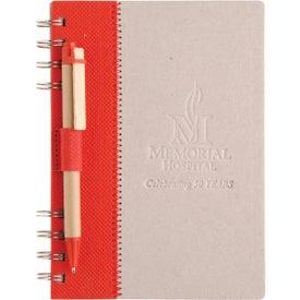 Monogrammed Recycled Terra Notebook