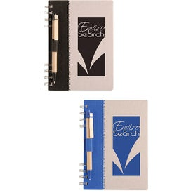 Recycled Terra Notebook with Your Slogan