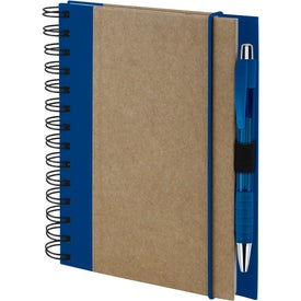 Company Recycled Color Spine Spiral Notebook