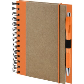 Advertising Recycled Color Spine Spiral Notebook
