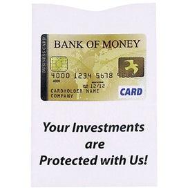 Logo RFID Blocker Credit Card Sleeve