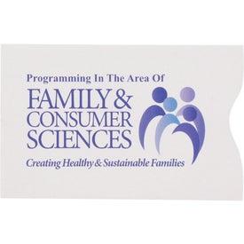 Promotional RFID Blocker Credit Card Sleeve