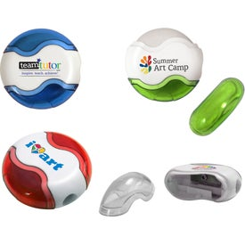Round Pencil Sharpener Eraser Combo (Full Color Digital)