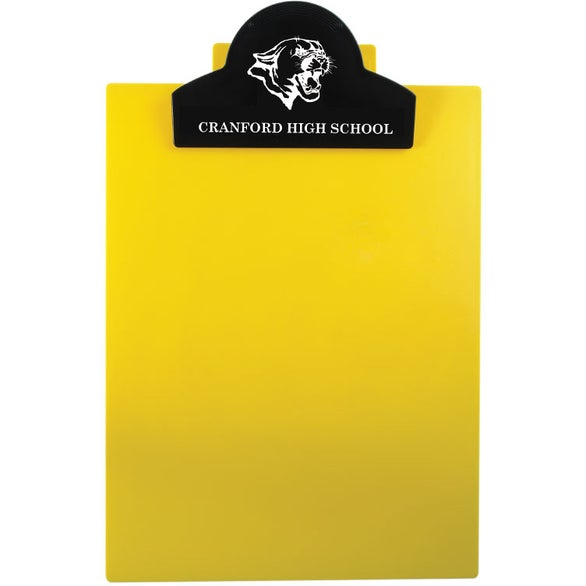 Yellow Round Top Letter Clipboard