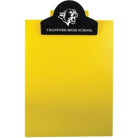 Round Top Letter Clipboard Imprinted with Your Logo