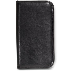 Branded Safe Travels Leather Document Holder