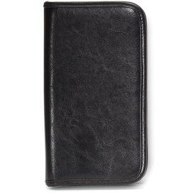 Branded Safe Travels Leather Document Holder