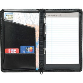 Script Zippered Jr. Padfolio Branded with Your Logo