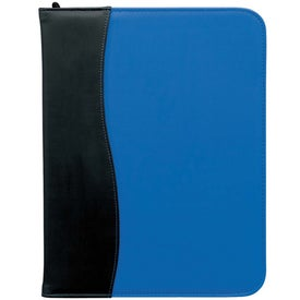 SIgN Wave Zippered Pad Holder Imprinted with Your Logo