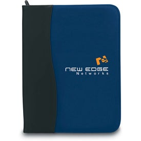 SIgN Wave Zippered Pad Holder with Your Logo