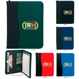 SIgN Wave Zippered Pad Holder with Your Slogan