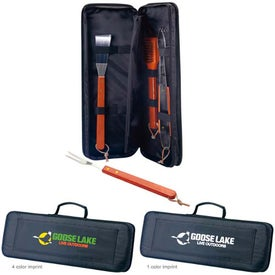 Sizzler 5-Piece BBQ Set with Your Logo