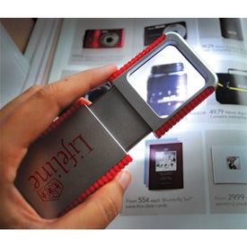 Customized Slide Out Magnifier with Light