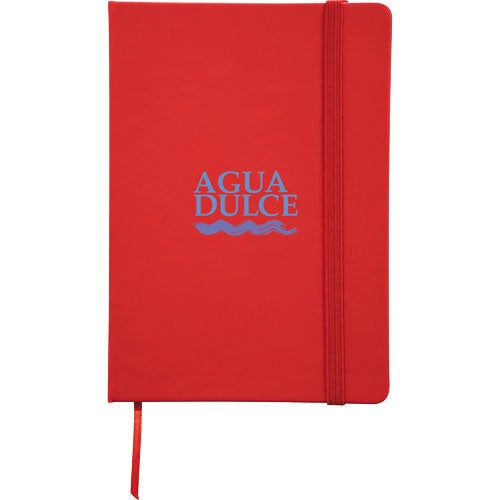 promotional 5 x 7 snap elastic closure notebooks with custom logo