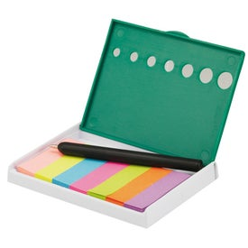 Snap Sticky Flag Case with Pen for Promotion