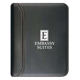 Sofisticate Zippered 3 Ring Binder with Your Logo