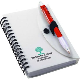 Spiral Notebook with Cardinal Pen for Advertising