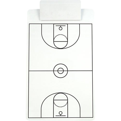 Basketball Sports Clipboard with Jumbo Clip