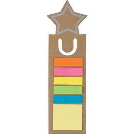Imprinted Star Shape Bookmark