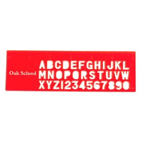 Stencil Ruler with Your Slogan